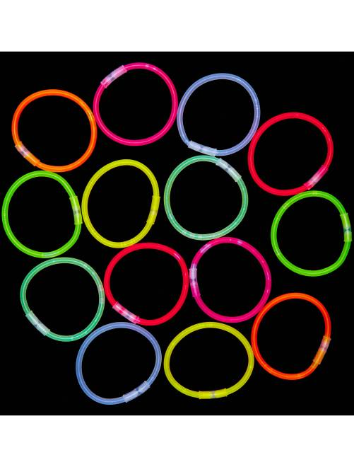 Tube 15 bracelets lumineux                             multicolore