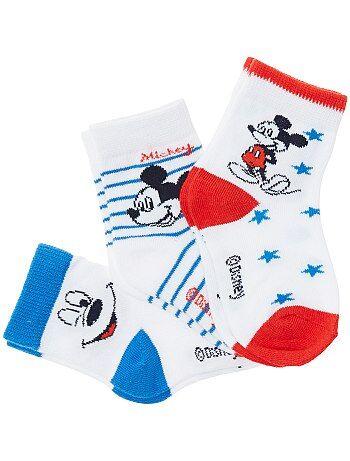 Un lot de 3 paires de chaussettes motif 'Mickey' ! - Kiabi