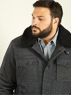 Manteau, veste - Veste aviateur effet lainage