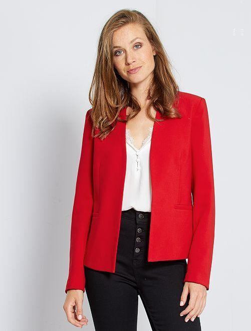 Veste courte de tailleur                                                                                                                             rouge