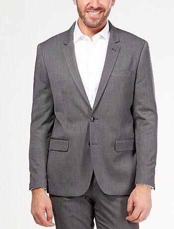 Veste de costume coupe droite                              gris Homme