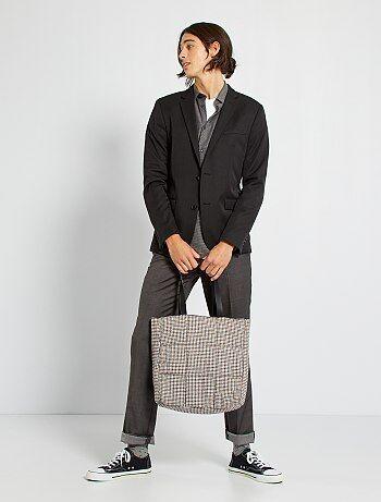 Veste de costume slim en twill - Kiabi