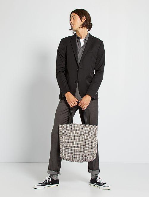 Veste de costume slim en twill                                                     noir Homme