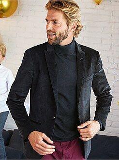 Veste - Veste de costume slim en velours