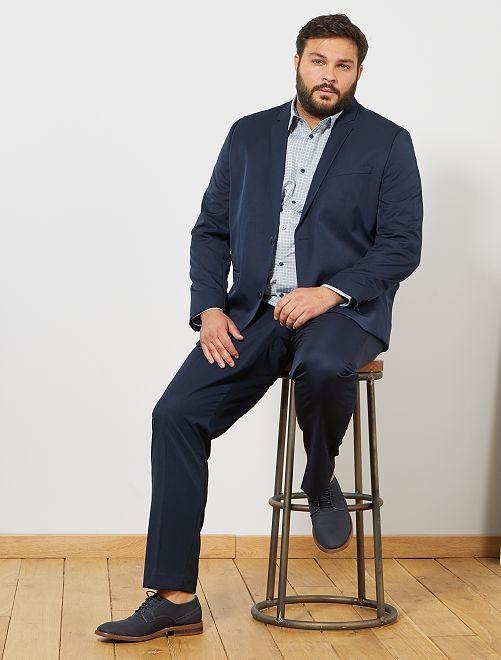Veste de costume unie coupe droite                                         bleu navy
