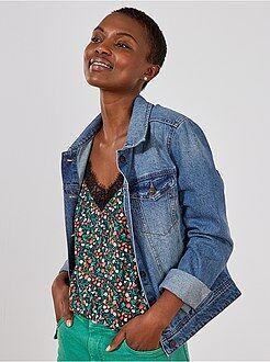 Femme du 34 au 48 Veste en jean