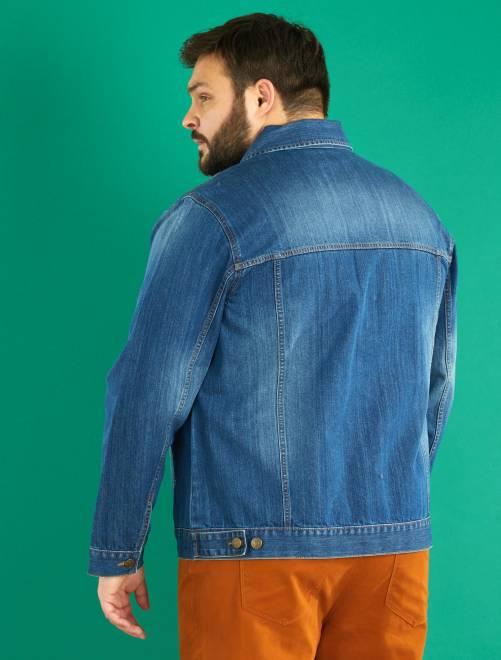 veste en jean grande taille homme stone kiabi 25 00. Black Bedroom Furniture Sets. Home Design Ideas