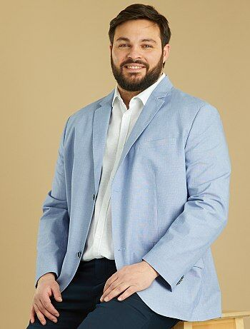 Veste regular en coton armuré - Kiabi