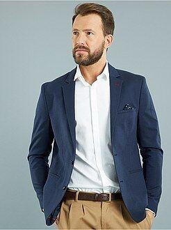Veste slim armurée en coton piqué