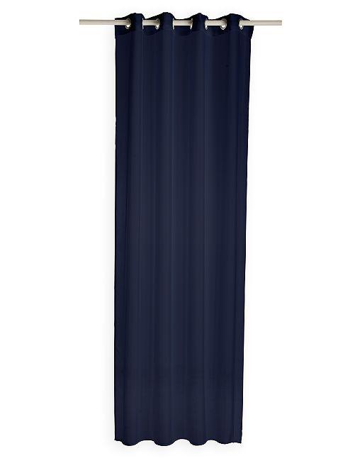 Voilage à oeillets                                                                                                                                                     bleu marine Linge de lit