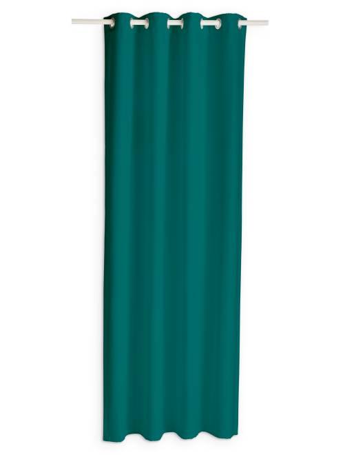 Voilage à oeillets                                                                                                                                                     vert émeraude Linge de lit