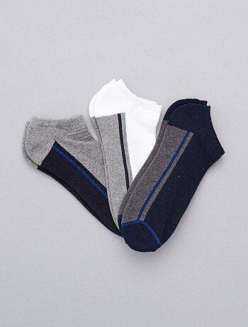 Homme du S au XXL - 3 paires de chaussettes invisibles sport - Kiabi