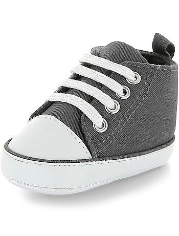 Chaussures Bébé bleu foncé façon basket en toile 18 uyTYw9Yhf