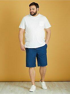 Bermuda, shorts - Bermuda chino imprimé twill léger - Kiabi