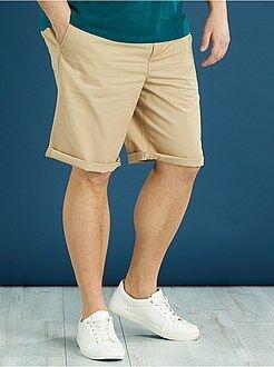 Bermuda, shorts - Bermuda chino uni twill léger - Kiabi