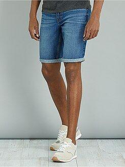 Bermuda, shorts - Bermuda en denim pur coton - Kiabi
