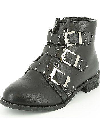 Boots en simili cloutées - Kiabi