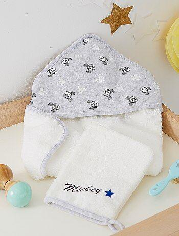 Cape de bain et gant 'Mickey' - Kiabi