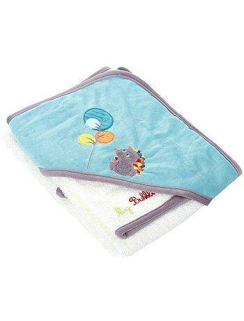 Cape de bain + gant thème 'Forêt' - Kiabi