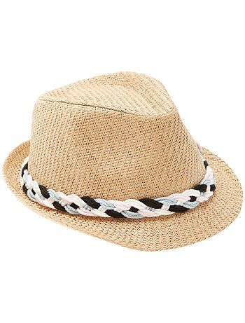 Chapeau avec bande tressée - Kiabi