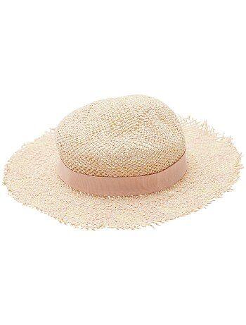 Chapeau de paille capeline - Kiabi