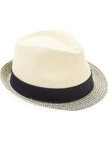 Chapeau de paille type panama - Kiabi