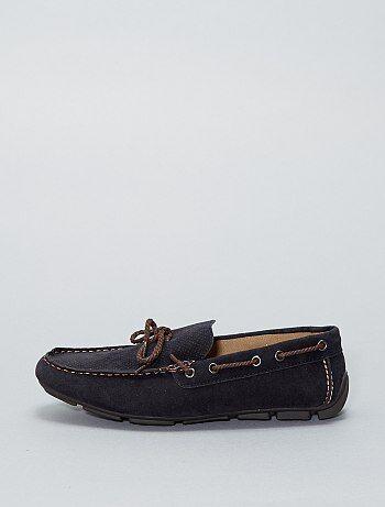 Chaussures bateau en suédine - Kiabi