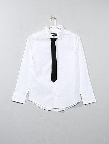Chemise + cravate - Kiabi