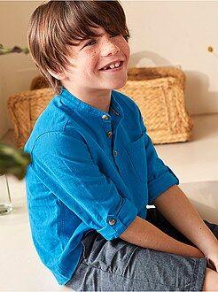 Garçon 3-12 ans - Chemise en lin et coton - Kiabi