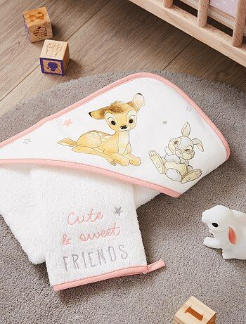 Ensemble cape de bain et gant 'Bambi' 'Disney' - Kiabi