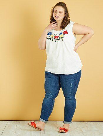 Grande taille femme - Jean skinny push-up - Kiabi