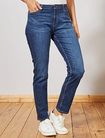 Jean taille haute coupe regular stretch - Kiabi