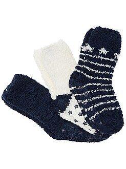 Chaussettes, collants taille 22/26 - Lot 3 paires de chaussettes antidérapantes - Kiabi