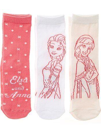 Lot 3 paires de chaussettes 'La Reine des Neige' - Kiabi