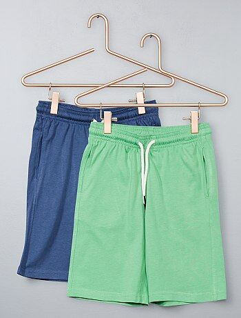 Lot de 2 bermudas unis - Kiabi