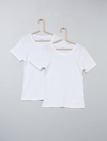 Lot de 2 t-shirts pur coton - Kiabi