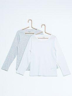 Garçon 3-12 ans - lot de 2 tee-shirts pur coton - Kiabi