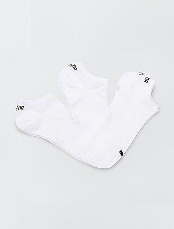 Lot de 3 paires de socquettes blanches 'Puma' - Kiabi