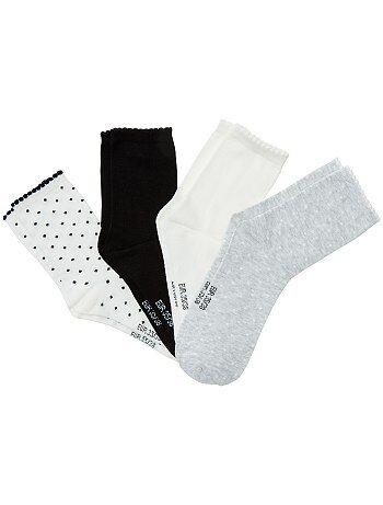 Lot de 4 paires de chaussettes - Kiabi