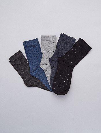 Homme du S au XXL - Lot de 5 de chaussettes - Kiabi