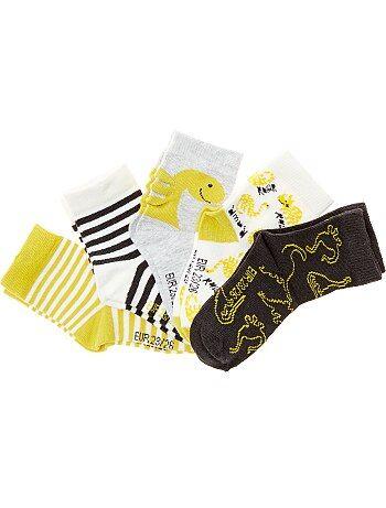 Lot de 5 paires de chaussettes motifs fantaisie - Kiabi