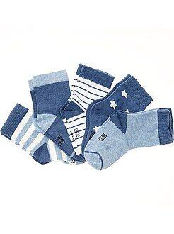 Chaussettes, collants taille 15/16 - Lot de 5 paires de chaussettes motifs fantaisie - Kiabi