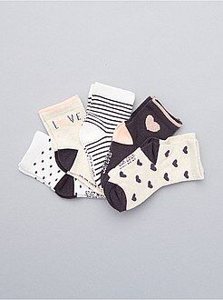 Chaussettes, collants taille 15/16 - Lot de 5 paires de chaussettes - Kiabi