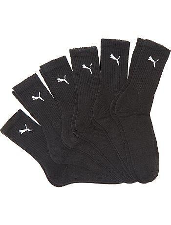 Homme du S au XXL - Lot de 6 paires de chaussettes 'Puma' - Kiabi