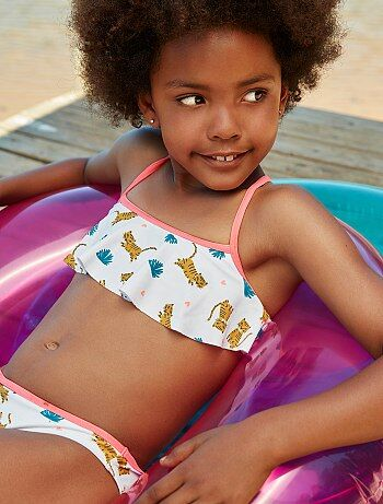 Fille 3-12 ans - Maillot de bain 2 pièces 'Tigre' - Kiabi
