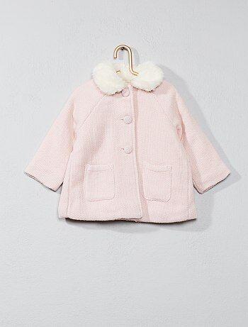 Manteau col claudine - Kiabi