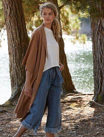 Manteau long en lyocell - Kiabi