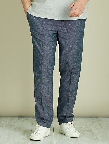 Pantalon chino fitted coton piqué - Kiabi