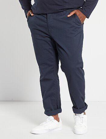 Pantalon chino fitted twill stretch - Kiabi