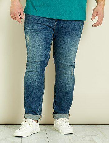 Pantalon chino slim en denim - Kiabi